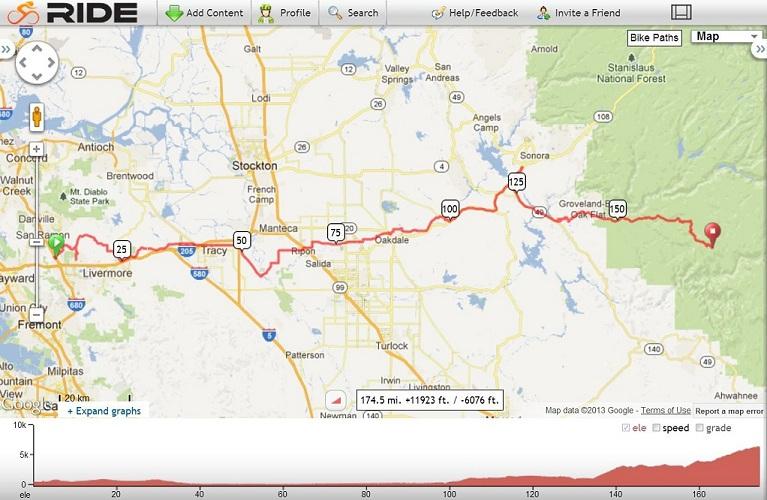 yosemite ride map from gps2